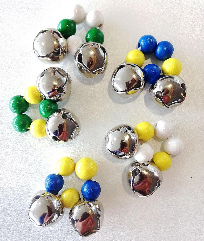 Vingerbelletjes met 2 bellen in diverse kleuren