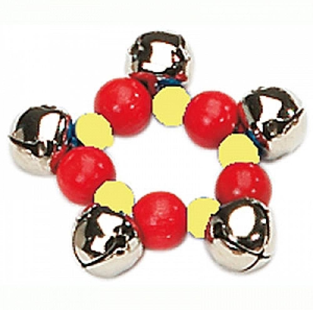 Gekleurde armband met 5 belletjes