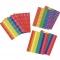 Stickervellen in Boomwhackerkleuren voor keyboard, piano, klankstaven en xylofoons